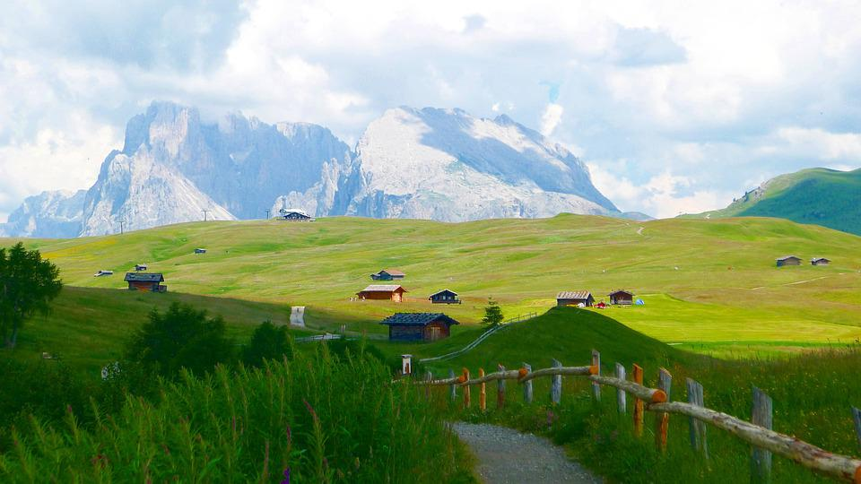 Alm, Nature, Landscape, Mountains, Alpine Huts, Wide