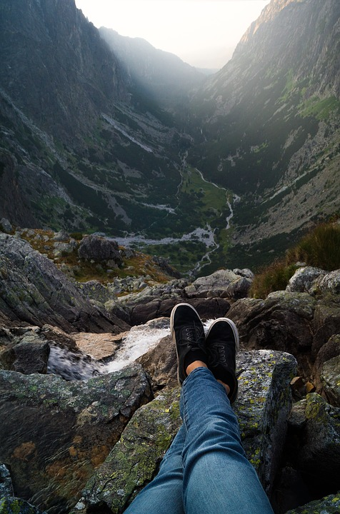 Mountains, Nature, Sunrise, Hiking, High, River, Chill