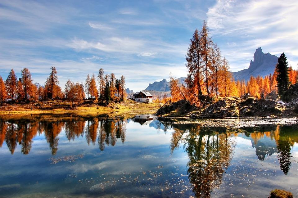 Dolomites, Mountains, Italy, Alpine, Nature, Lake