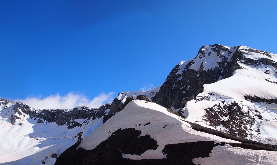 Mountains, Cliffs, Nature, Rock, Sky, Human