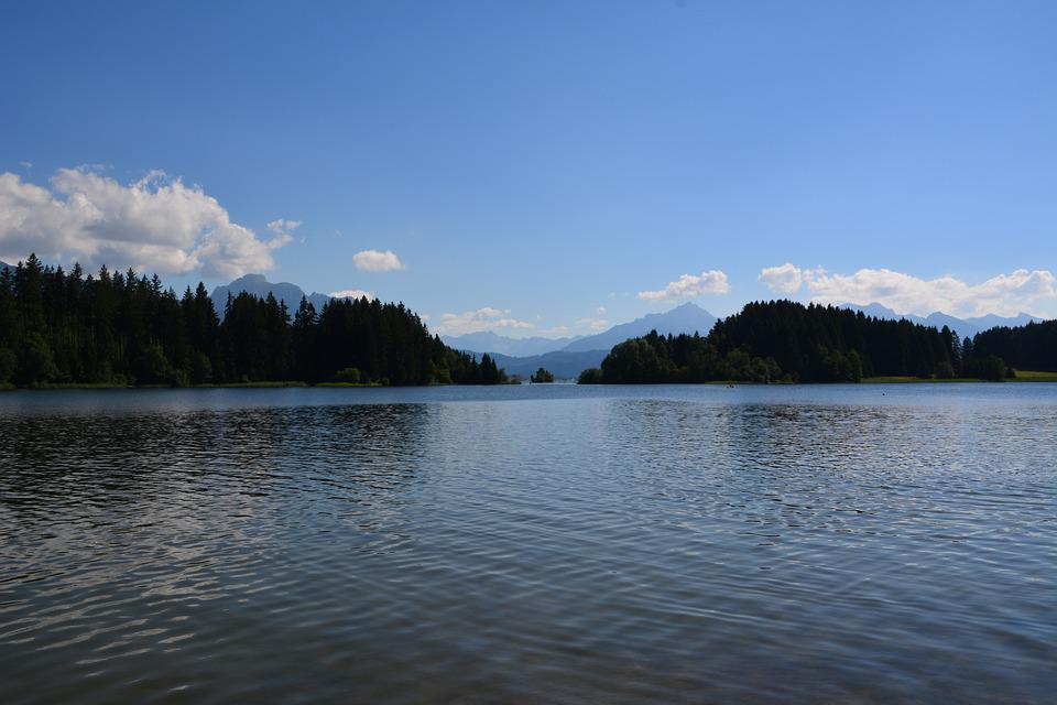 Lake, Tree, Landscape, Mountains, Water, Nature, Waters