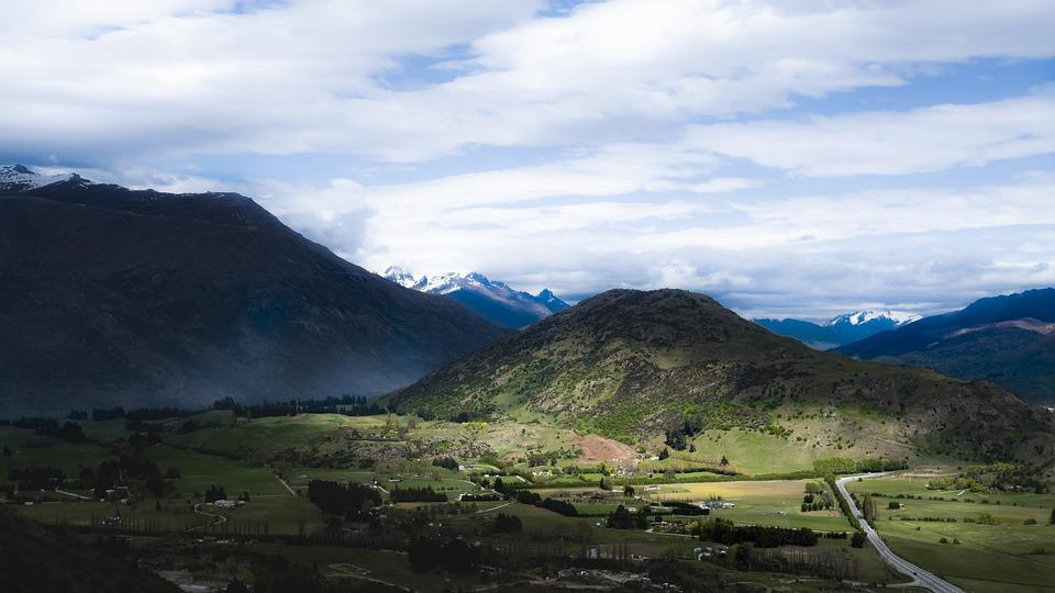 New Zealand, Landscape, Nature, Mountains, Sky
