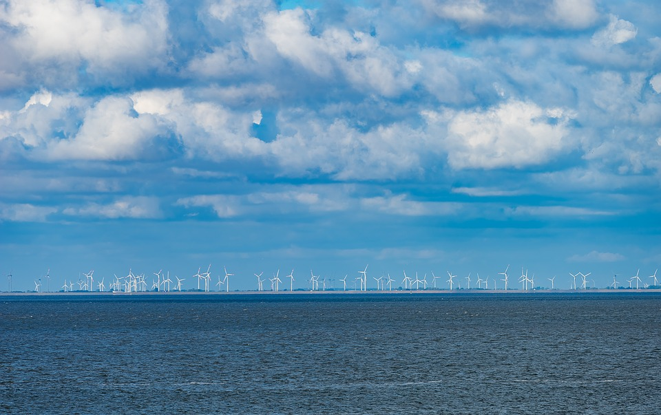 Landscape, Nature, North Sea, Windräder