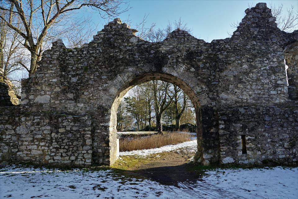 Nature, Architecture, Stone, Tree, Winter, Old, Travel
