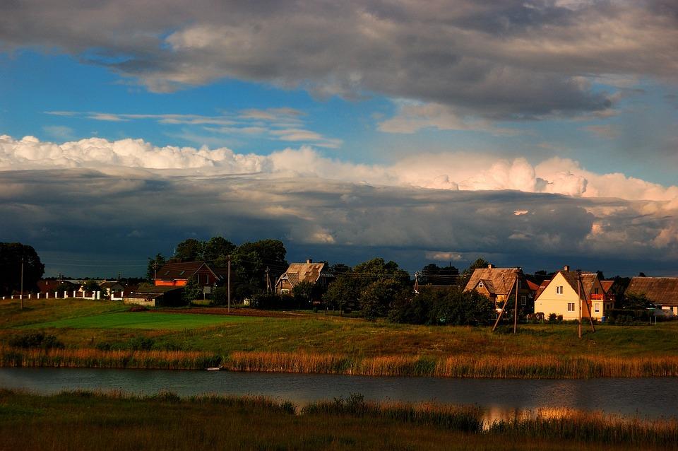 Village, Outdoor, Lithuania, House, Landscape, Nature