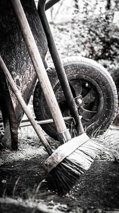 Winter, Old, Wheelbarrow, Outdoor, Christmas, Nature