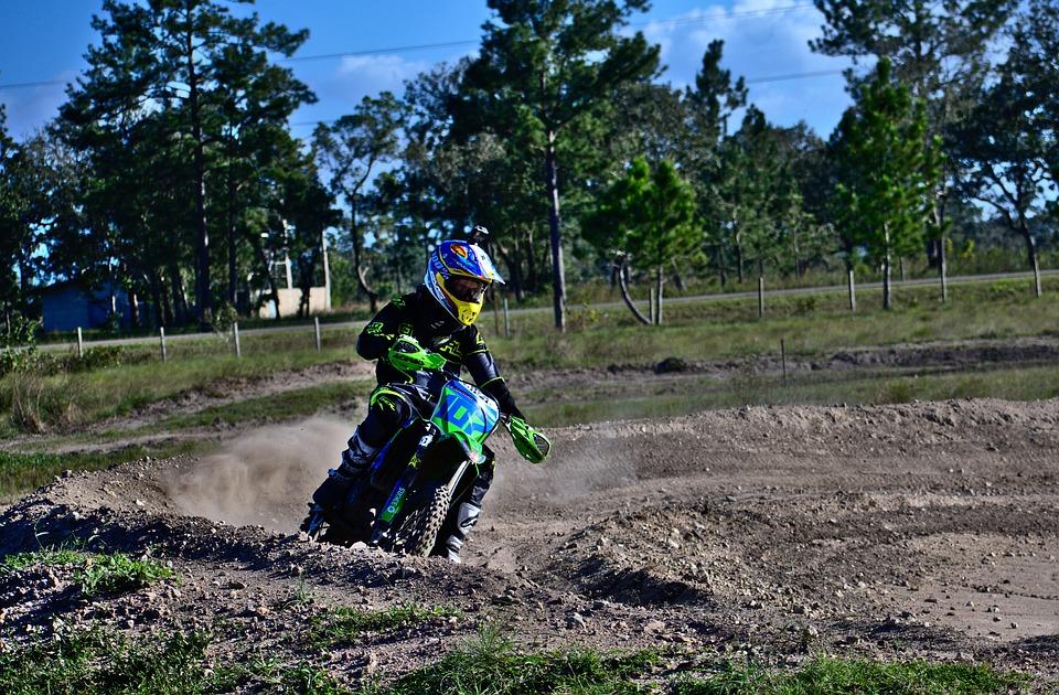 Rider, Kawasaki, Dirt Bike, Soil, Nature, Outdoors