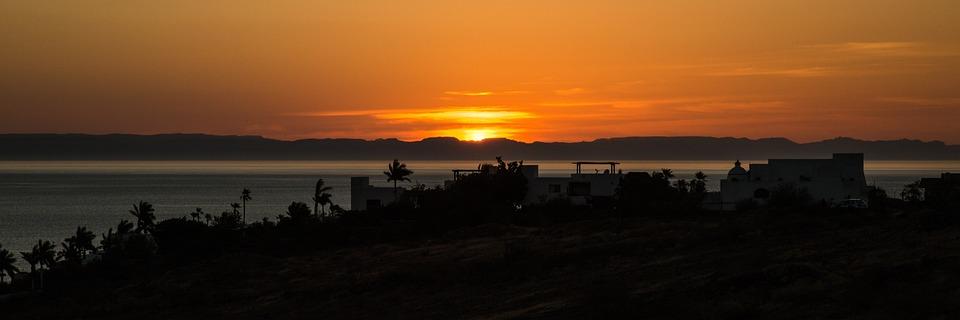 Sunset, Panoramic, Sun, Nature, Landscape, Sea