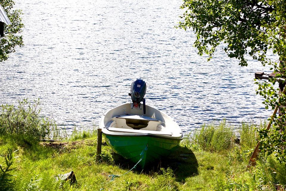 Boat, Nature, Lake, River, Paradise, Sweden, Calm