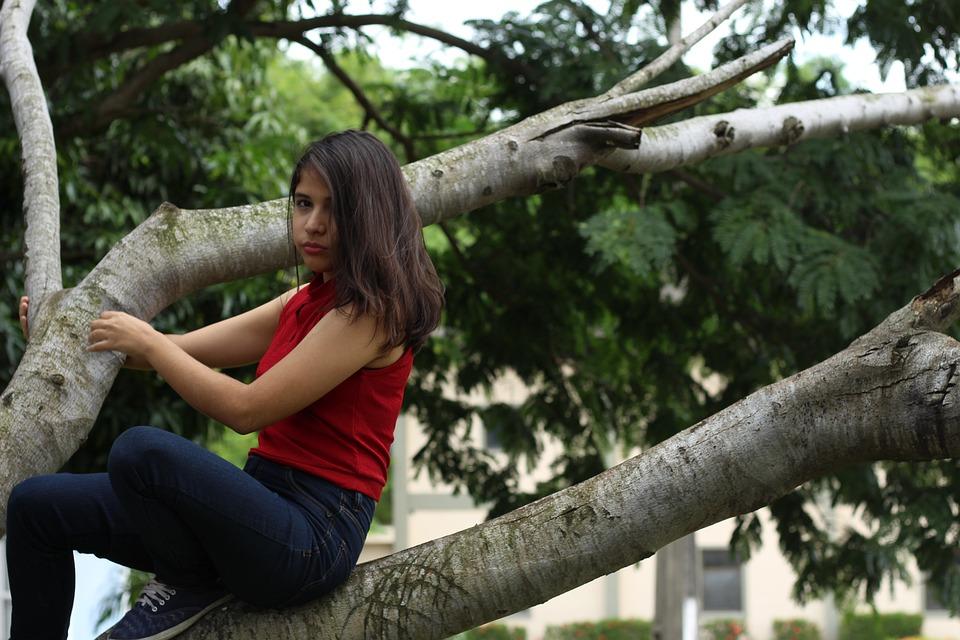 Nature, Tree, Beautiful, Outdoors, Park, Girl