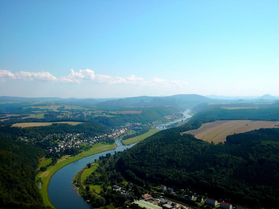 Elbe Valley, Elbe, River, Nature Park, Landscape