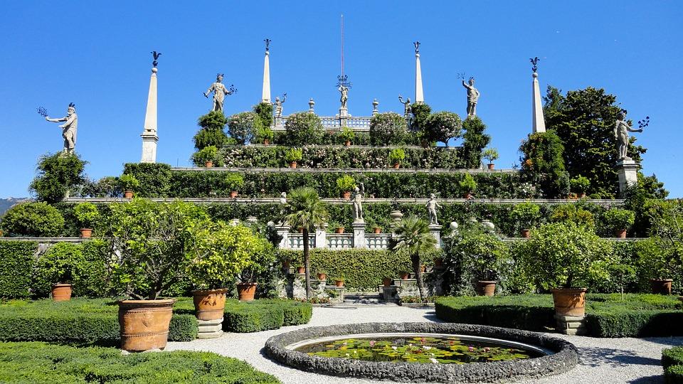 Nature, Landscape, Park, Castle, Fountain, Statues
