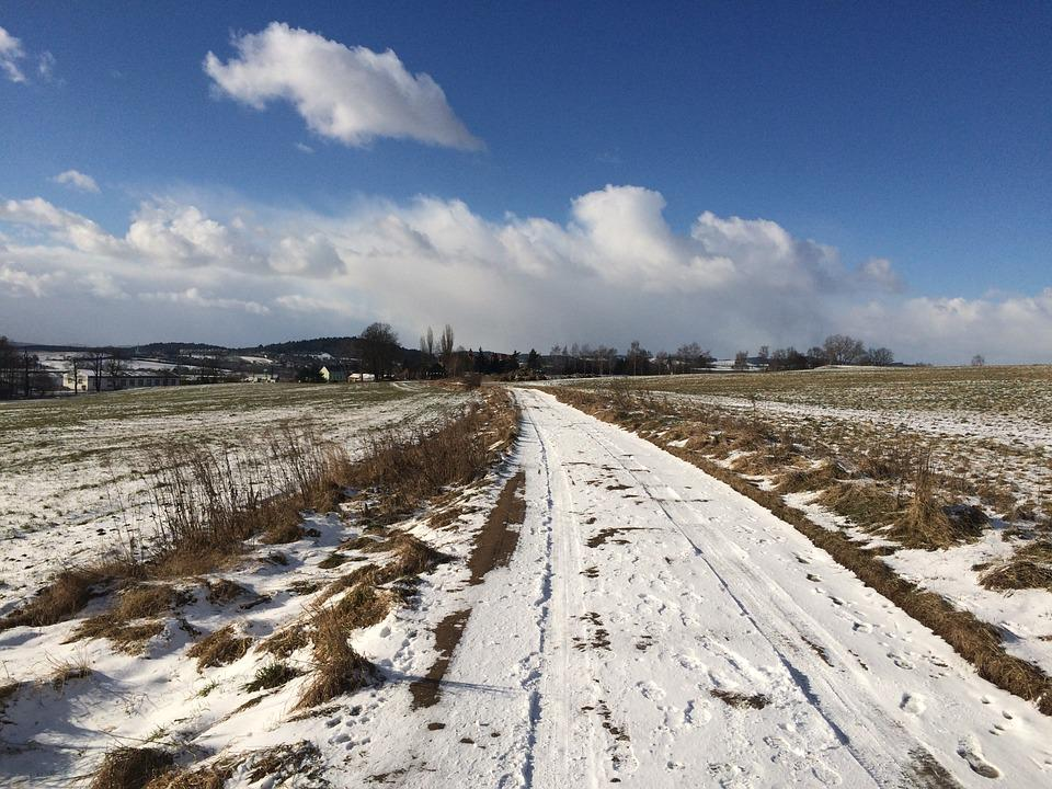 Path, Winter, Snow, Nature, Sky, Walk, Landscape
