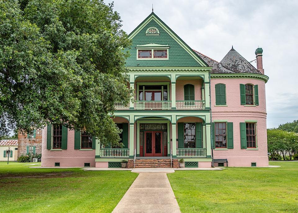 Plantation, House, Louisiana, Landscape, Porch, Nature