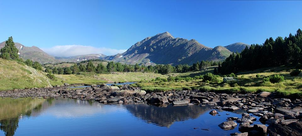 Nature, Mountain, Lake, Pyrénées, Water, Landscape
