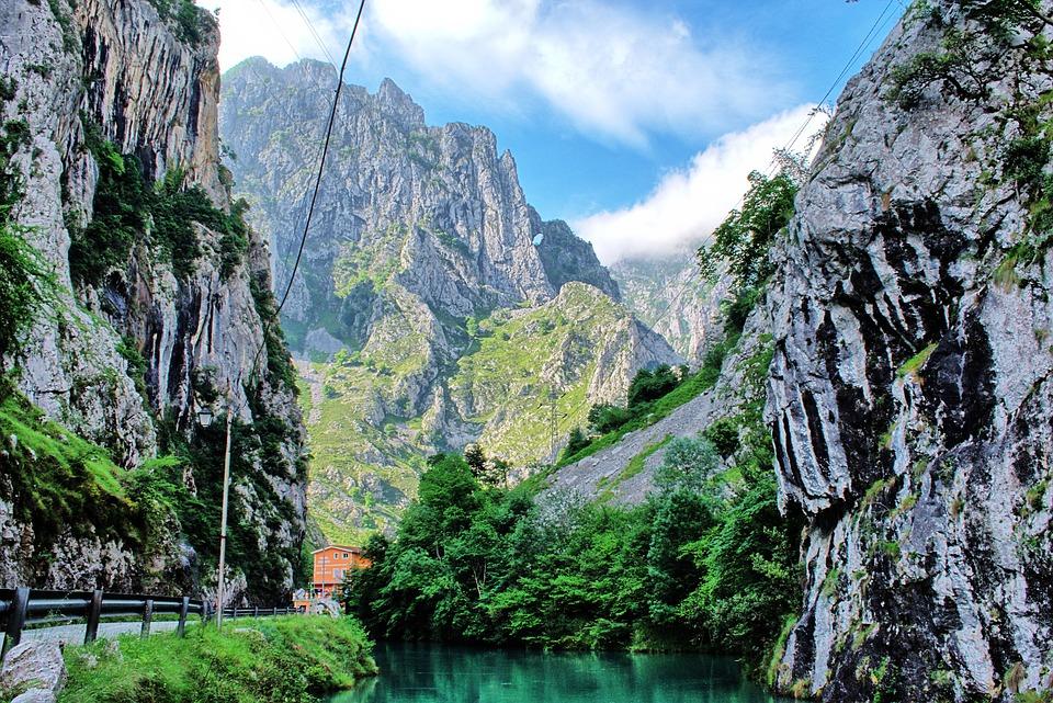 River, Nature, High Mountains, Asturias, Spain