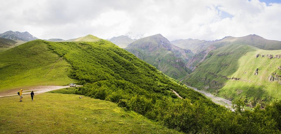 Mountain, Mountain Landscape, Nature, Georgia, River