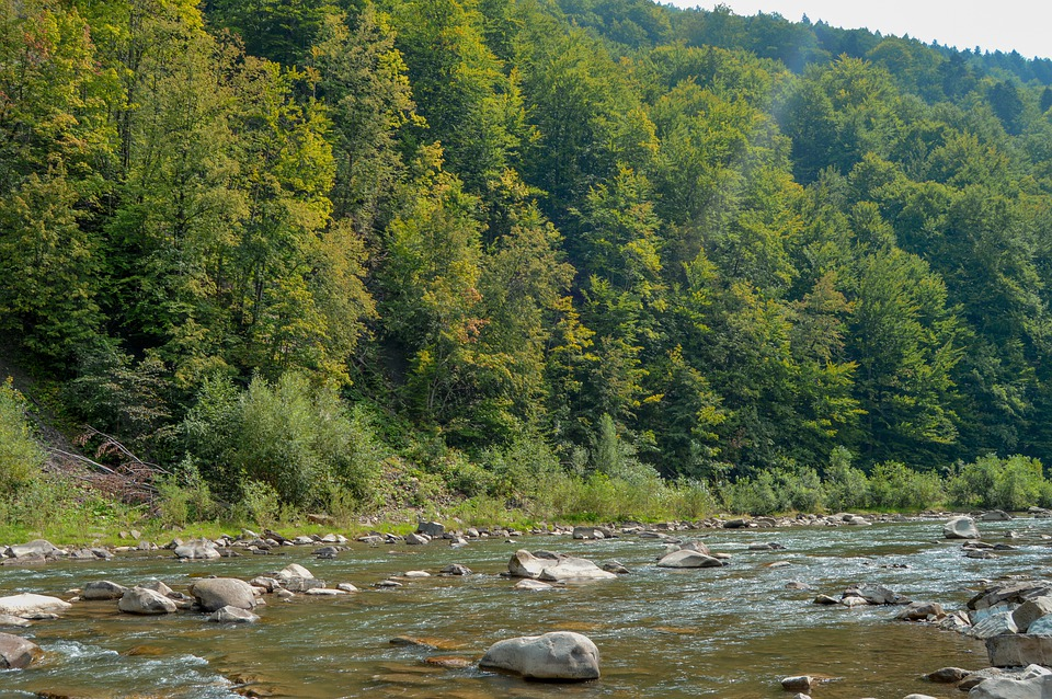 River, Valley, Landscape, Nature, Mountain, Water