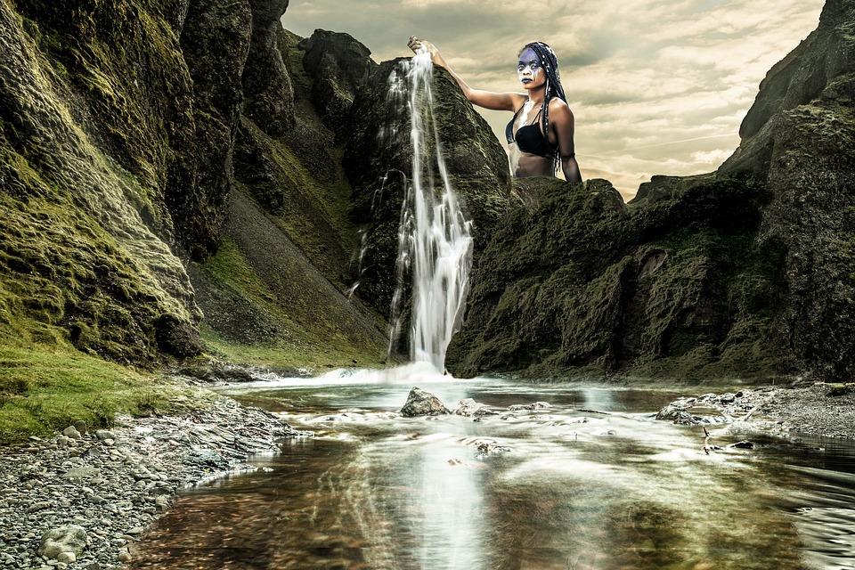 Waterfall, River, Nature, Torrent, Gray, Scotland, Fall