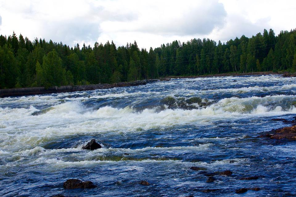 River, Nature, Wave, Water Courses, Rock, Cascade
