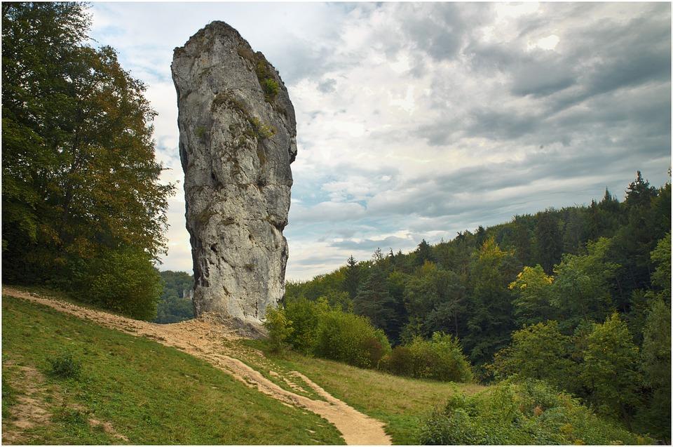 Hercules's Mace, Rock, Pieskowa Skała Castle, Nature