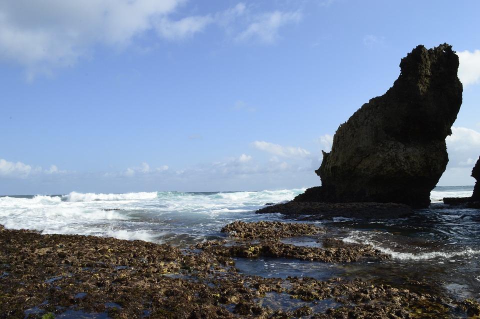 Beach, Nature, Java, Sea, Rock, Waves, Coast