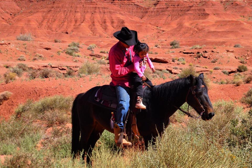 Usa, Nature, Rock Option, Jumper, Horse, Child, Indian
