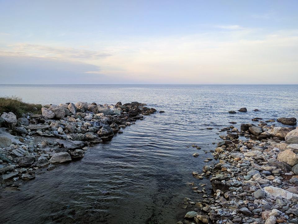 Sea, Rocks, Water, Nature, Landscape, Heaven, Blue