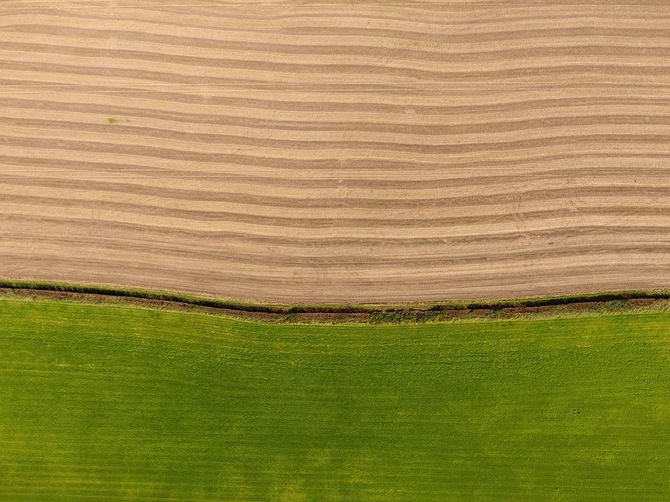 Field, Aerial, Landscape, Nature, Rural, Farm