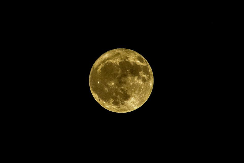 Full Moon, Night, Satellite, Nature, Astronomy