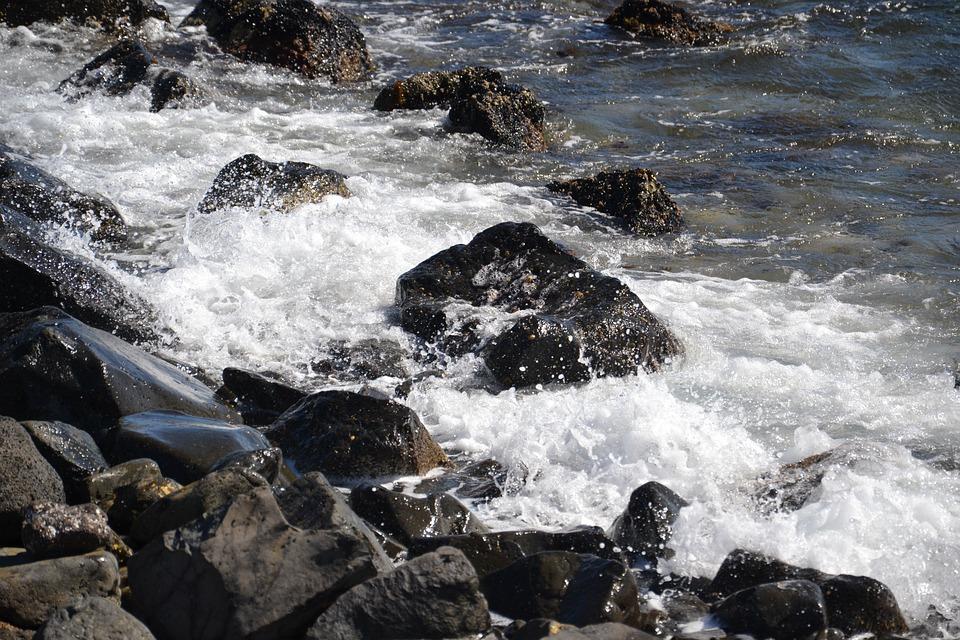 Sea, Rock, Scum, Nature, Seaside, Rocks