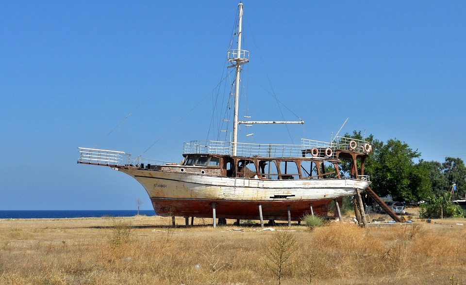 Ship, Shipwreck, Sea, Summer, Nature, Beach, Boat