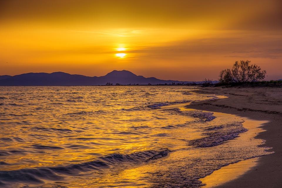 Sunset, Sea, Colors, Landscape, Nature