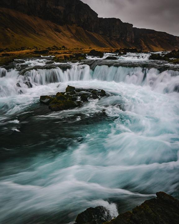 Water, River, Nature, Outdoors, Waterfall, Ocean, Sea