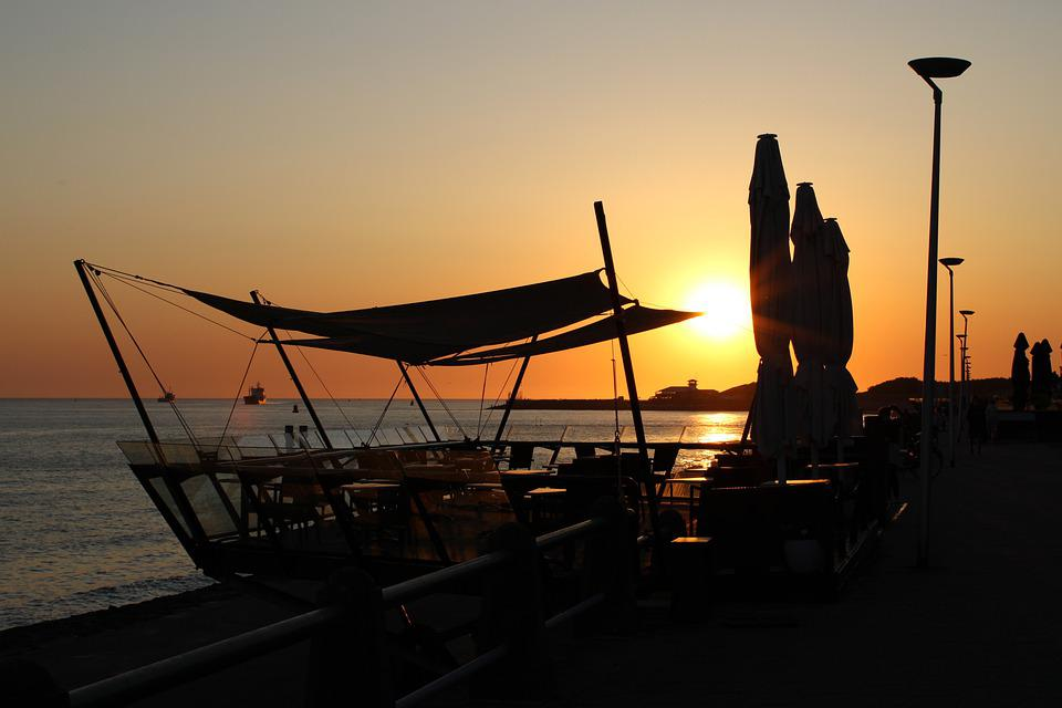 Outdoors, Sea, Sky, Nautical Vessel, Sunset, Nature