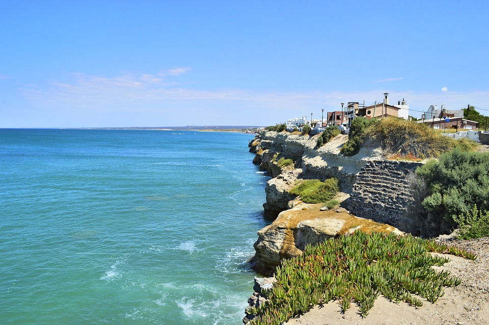 Sea, Landscape, Rocks, Nature, Cliff, City
