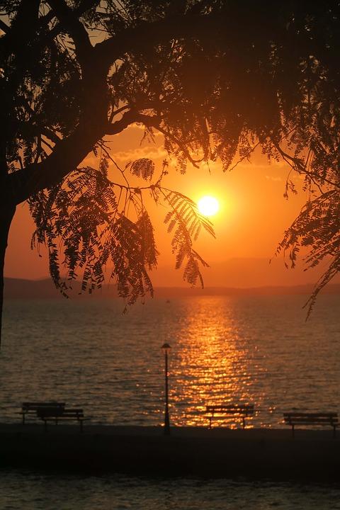 Sea, Sunset, Nature, Water, Romantic