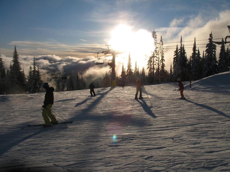 Skiing, Sun Peaks, Canada, Ski, Nature, Season, White