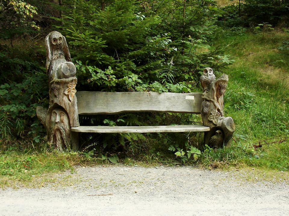 Bank, Wooden Bench, Bench, Nature, Wood, Rest, Seat