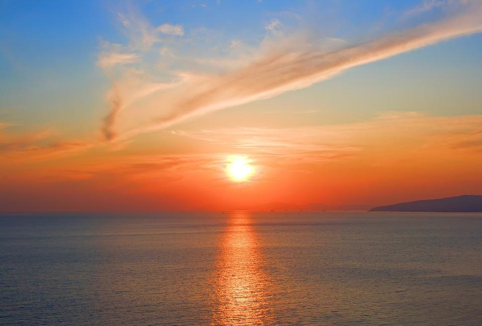 Sun, Sea, Sunset, Beach, Holiday, Nature, Setting Sun