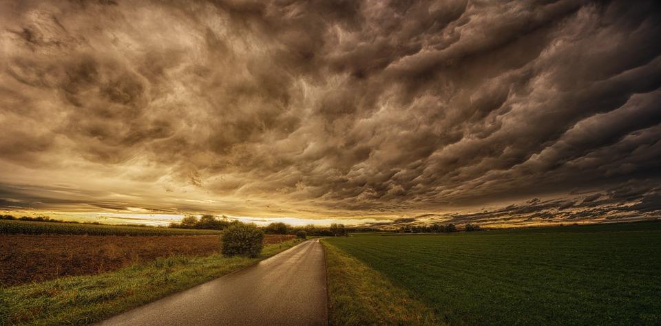 Nature, Panorama, Sky, Sunset, Dramatic, Clouds