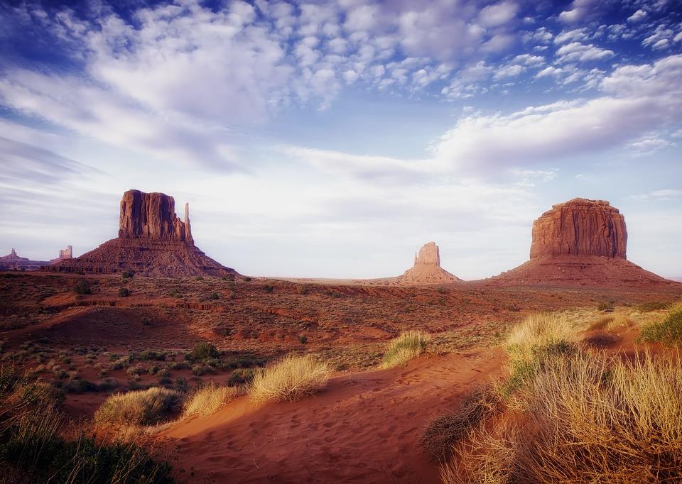 Monument Valley, Desert, Nature, Arizona, Sky, Rock