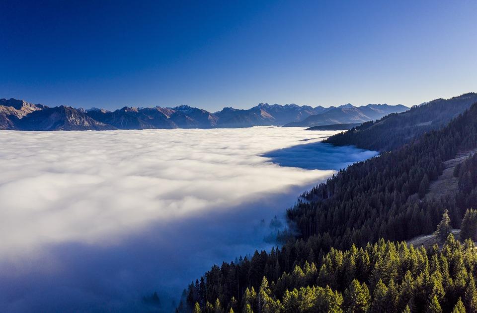 Mountains, Fog, Alpine, Landscape, Nature, Sky