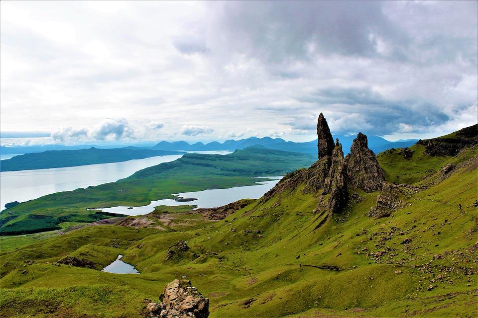 Landscape, Nature, Sky, Panorama, Grass, Mountain, Rock