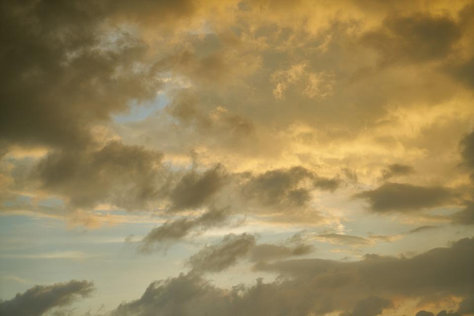 Sky, Night, In The Evening, Clouds, Sunset, Nature