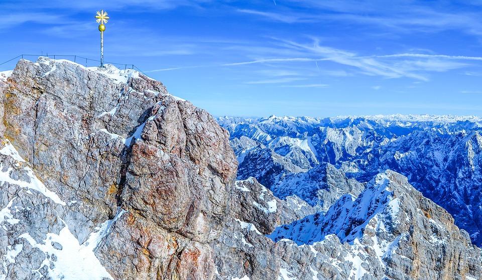 Nature, Rock, Landscape, Sky, Mountain, Zugspitze