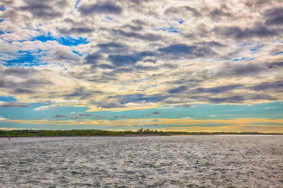 Ocean, Clouds, Water, Sky, Sunset, Sea, Sunrise, Nature