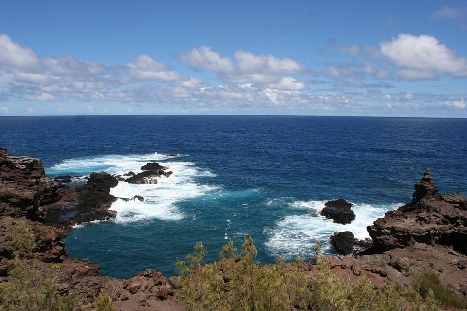 Hawaii, Maui, Tropic, Nature, Waves, Blue, Sky, Ocean
