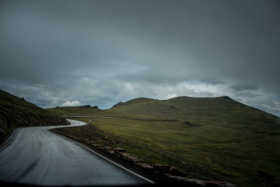 Nature, Landscape, Mountains, Slope, Roads, Paths