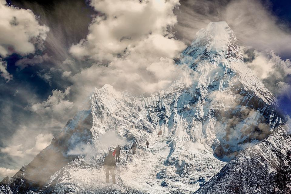 Nature, Mountain, Snow, Landscape, Mountaineer